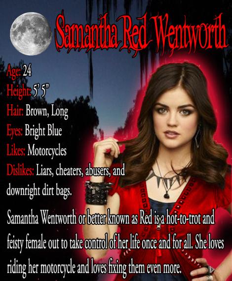 Character Bio - Samantha - Red - Wentworth
